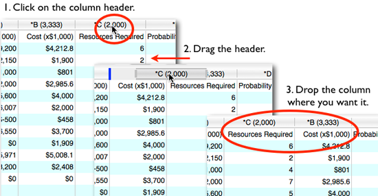 Simply click, drag, and drop to move your Portfolio Data columns around