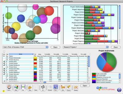 Project Portfolio Dashboard Now in Bubble Chart Pro™ 3.5
